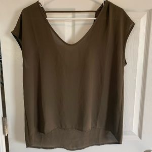Forever 21 Green Low Back Top size small